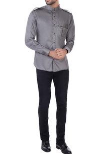 grey-button-down-shirt-with-shoulder-epaulets