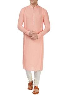 pink-blind-tucked-kurta-set