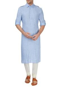 blue-and-off-white-kurta-set