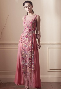 coral-pink-draped-gown