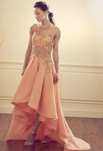 peach-asymmetrical-halter-neck-gown