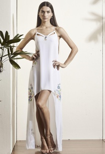 white-high-low-gown