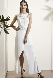 white-floral-embroidered-slit-gown