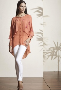 rust-orange-high-low-blouse