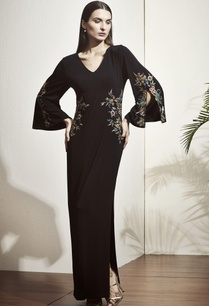 black-floral-applique-gown