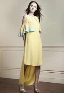 yellow-high-low-tunic-dress