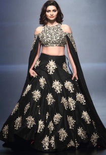 black-embroidered-cape-lehenga