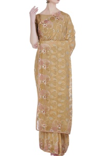 resham-embroidered-floral-saree-unstitched-blouse