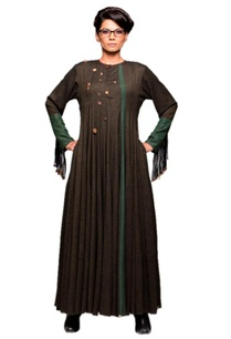 forest-green-panelled-dress