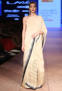 champagne-with-charcoal-ombre-sari