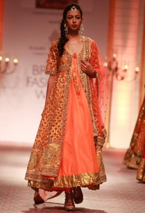 orange-anarkali-set-with-gold-embroidered-jacket