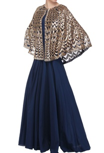 navy-blue-gown-with-attached-cape