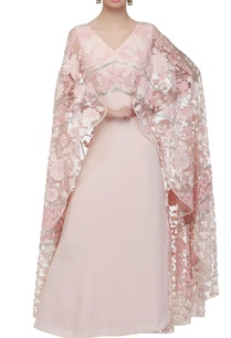baby-pink-gown-with-cape