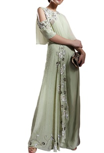 dull-green-side-swept-cape-and-zardozi-detailed-jumpsuit