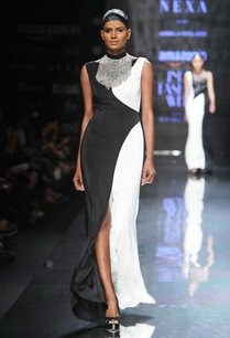 black-cream-embellished-gown
