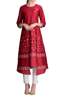 red-printed-kurta-with-pants