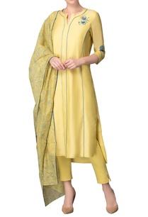 lime-yellow-blue-embroidered-kurta-set
