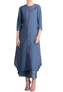 blue-front-slit-kurta-with-printed-palazzos