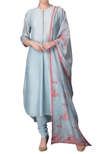 pastel-blue-kurta-with-churidar-dupatta
