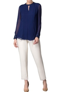 indigo-layered-top