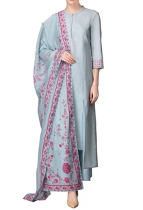 powder-blue-asymmetric-kurta-set-with-pink-work