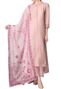 light-pink-asymmetric-kurta-set-with-pink-work
