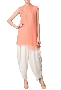 peach-tunic-with-sequin-embellishments
