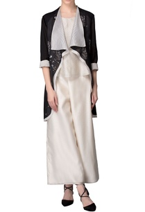 black-waist-coat-with-white-striped-inner-layer