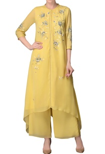 lime-kurta-set-with-embroidery