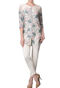 ivory-floral-print-tunic