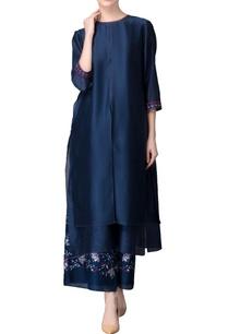 navy-blue-kurta-printed-culottes
