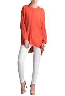 rust-orange-high-low-tunic