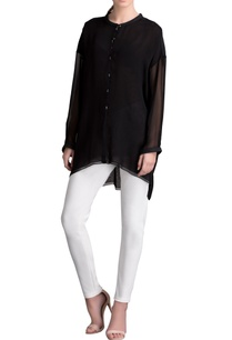 black-high-low-tunic