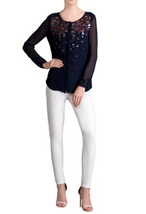 navy-blue-embellished-shirt