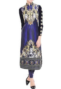 royal-blue-printed-kurta-leggings