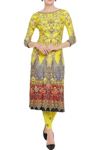 sunflower-yellow-printed-kurta-leggings