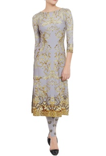 grey-printed-kurta-leggings