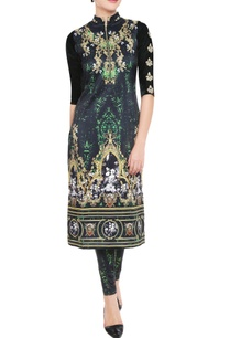 emerald-green-printed-kurta-leggings