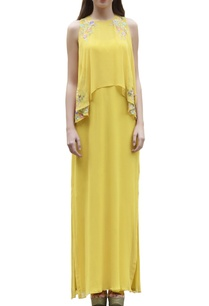 yellow-embroidered-maxi-dress