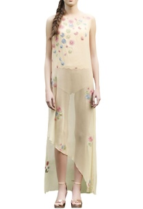 beige-embroidered-long-top