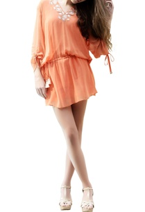 orange-embroidered-kaftan-top