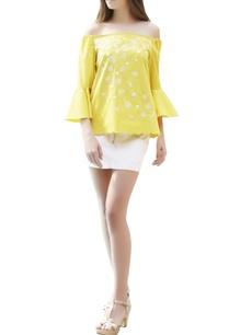 sunflower-yellow-off-shoulder-top