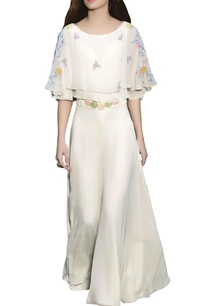 ivory-embellished-cape-jumpsuit