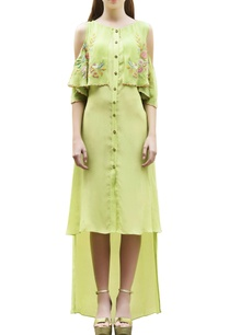parrot-green-high-low-dress