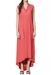red-high-low-maxi-dress