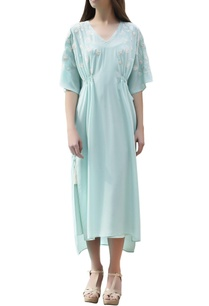 aqua-blue-embroidered-kaftan-dress