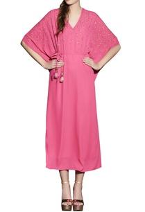 hot-pink-kaftan-dress