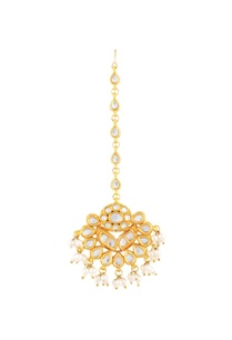 gold-polished-maangtikka-with-pearls-kundan