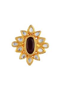 gold-plated-kundan-ring