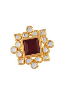 gold-plated-square-kundan-ring